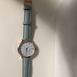 Jewelry - Rose gold and turquoise watch